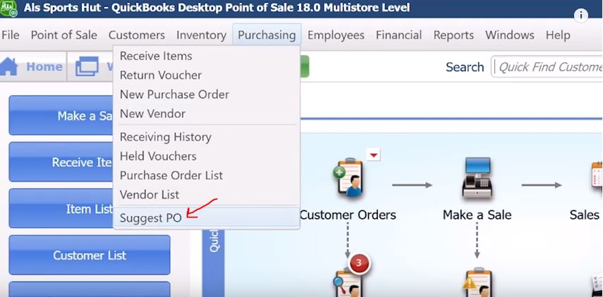 QuickBooks POS Support: Purchase Order