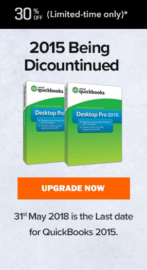 QuickBooks 2015 being Discountinued