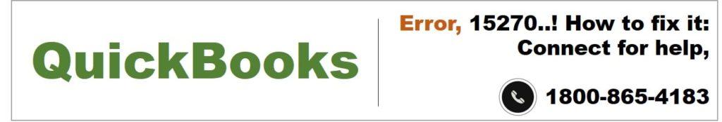 QuickBooks error 15270. How to fix it?