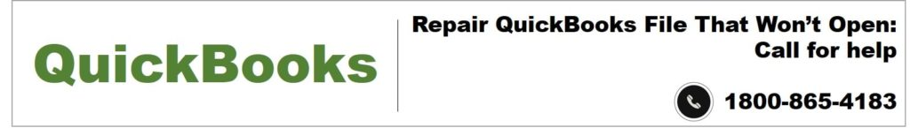 Repair QuickBooks File That Won't Open