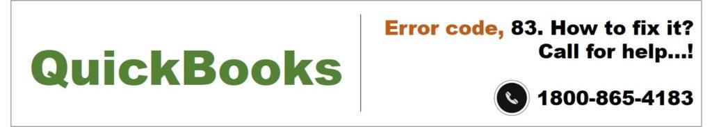 QuickBooks error 83