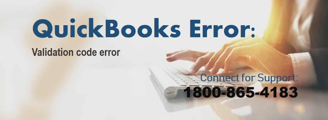 Quickbooks validation code error