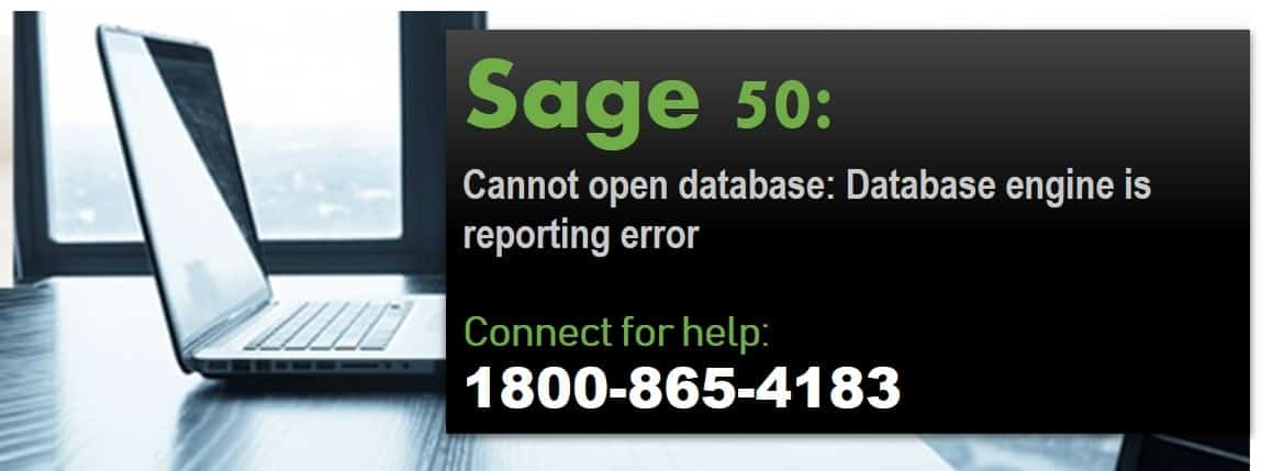 Sage 50 Cannot Open the Database Because the Database Engine Reported An Error