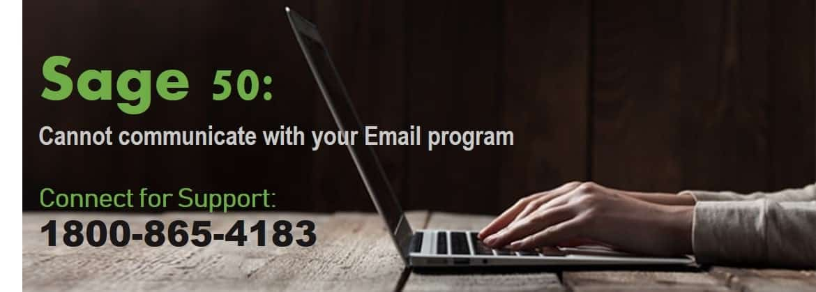 Sage 50 Cannot communicate with your email program