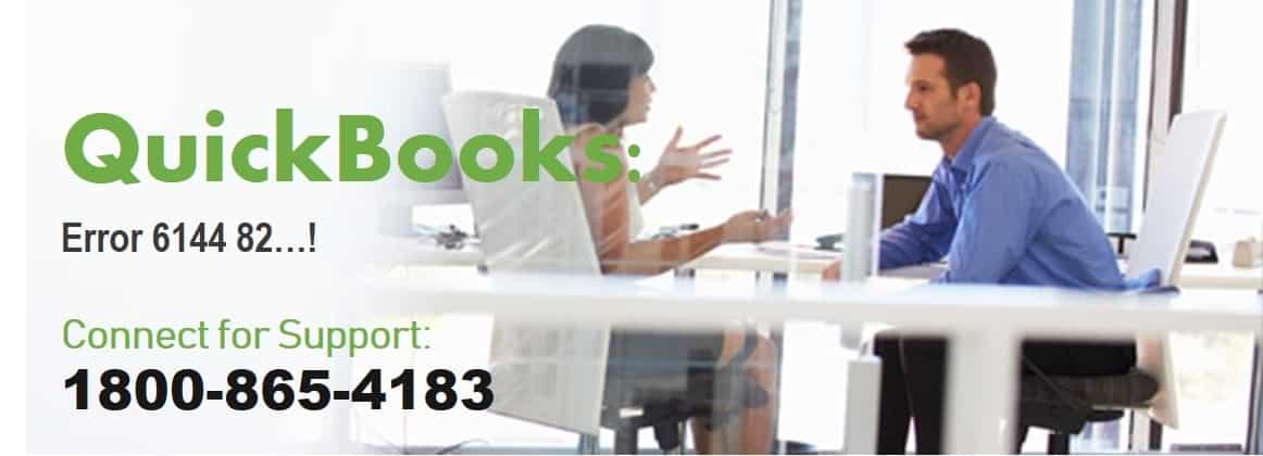 QuickBooks Error 6144 82: Call ☎ 1800-865-4183 to get it fixed over