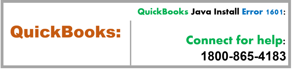 QuickBooks Java Install Error 1601 Call ☎ 1800-865-4183