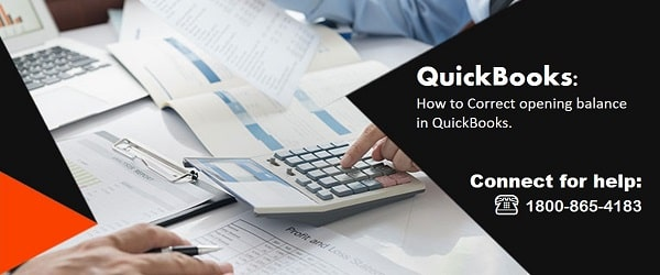 How to correct opening balance in QuickBooks