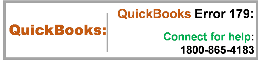 QuickBooks Error 179