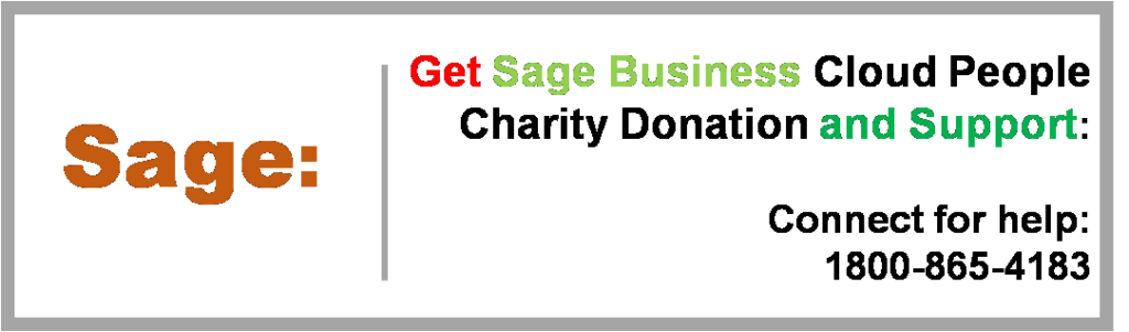 Sage Business Cloud People Charity Donation and Support