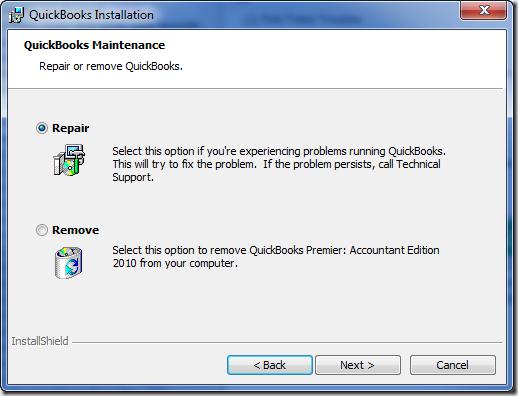 Repair QuickBooks