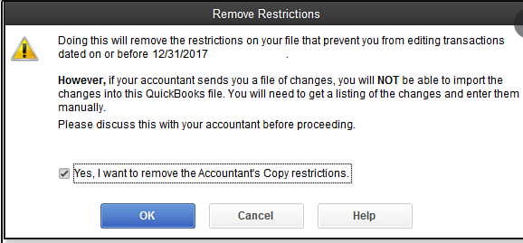 Remove Accountant Restrictions in QuickBooks