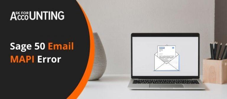 Sage 50 Email MAPI Error