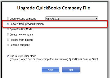upgrade quickbooks company file