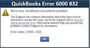 QuickBooks Error 6000 832
