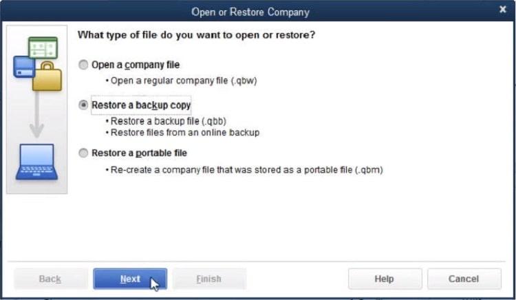 Restore a Company File in QuickBooks