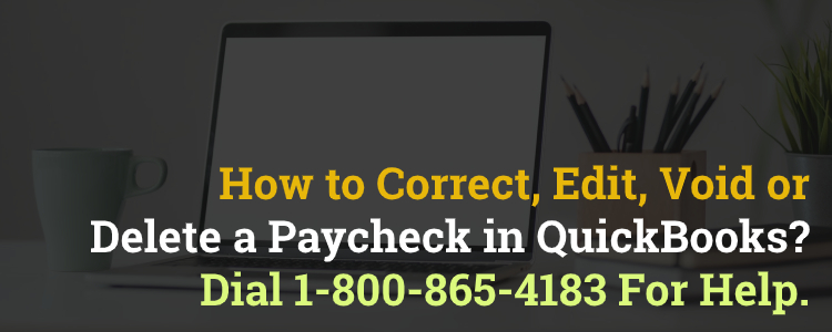 Correct a Paycheck in QuickBooks