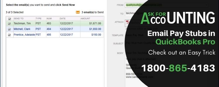 Email Pay Stubs in QuickBooks pro