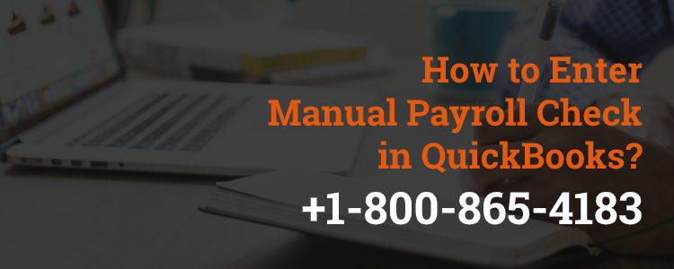 Enter manual payroll check in quickbooks