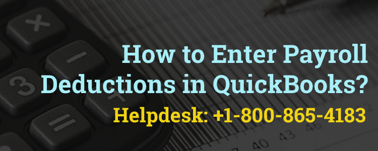 Enter Payroll Deductions in QuickBooks