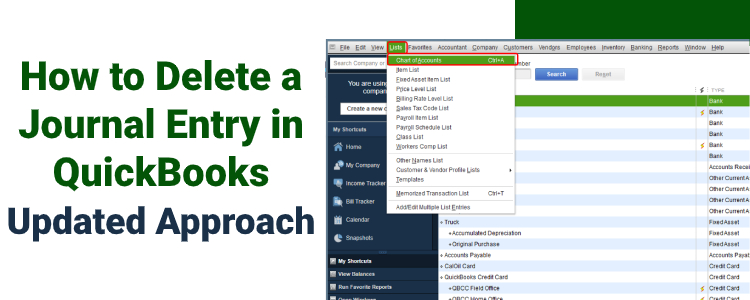 How to Delete a Journal Entry in QuickBooks