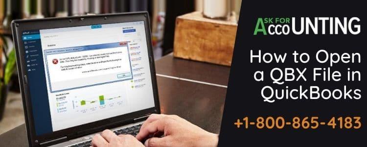 Open a QBX File in QuickBooks