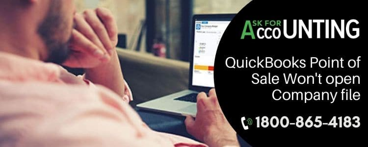 QuickBooks Point of Sale Won't open Company file