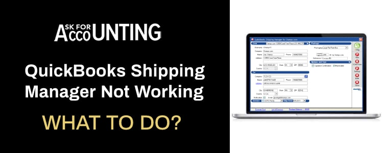 QuickBooks Shipping Manager Not Working