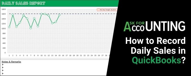 Record Daily Sales in QuickBooks