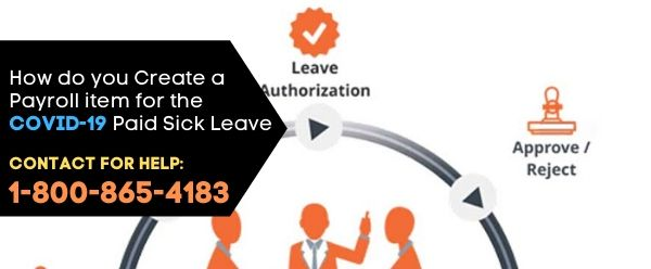 How do you Create a Payroll item for the COVID-19 Paid Sick Leave