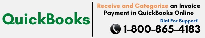 How to Receive and Categorize an Invoice Payment in QuickBooks Online?
