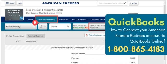 Connect your American Express Business account to QuickBooks Online