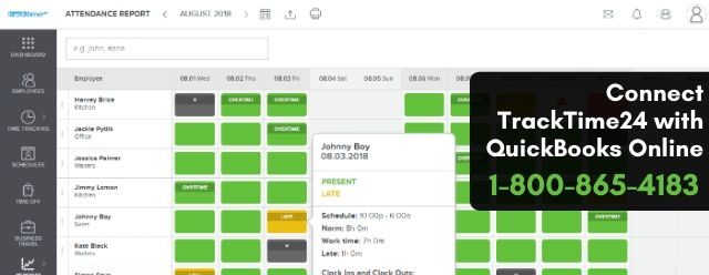 Connect TrackTime24 with QuickBooks Online