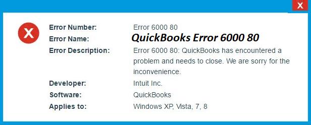 quickbooks error 6000 80