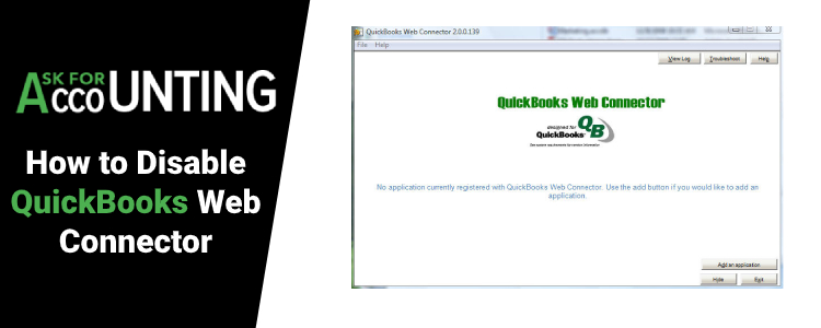 Disable QuickBooks Web Connector