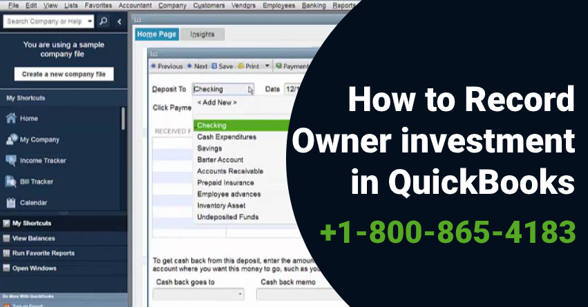 Record Owner Investment in QuickBooks