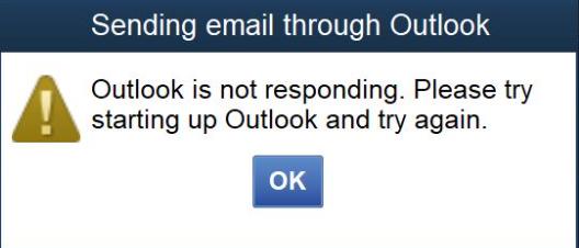 QuickBooks Outlook is Not Responding