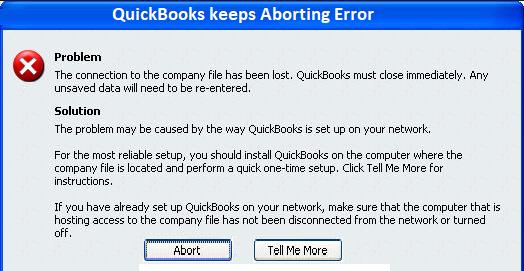 QuickBooks keeps Aborting 1