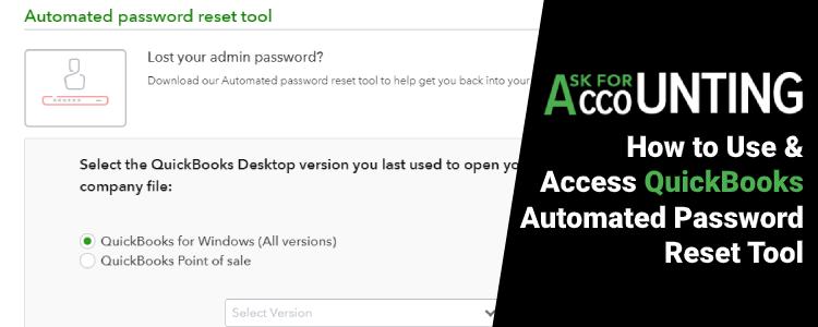 QuickBooks Automated Password Reset Tool