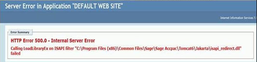 sage http error