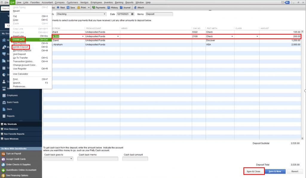 Delete a Deposit in QuickBooks Desktop min.