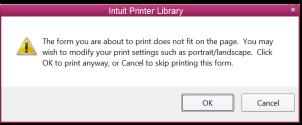 QuickBooks Printer Library Error