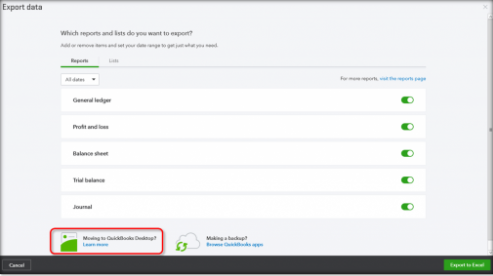 moving to quickbooks desktop section