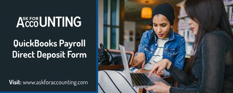 QuickBooks Payroll Direct Deposit Form