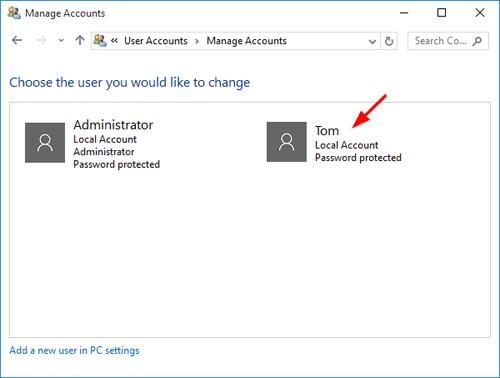 Create a New Window Admin User