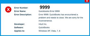 QuickBooks Error 9999