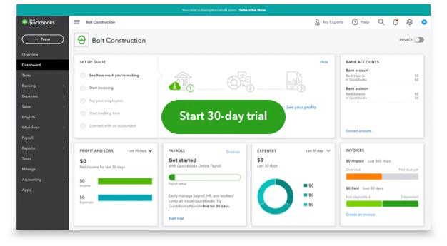 QuickBooks Online Advanced Free Trial