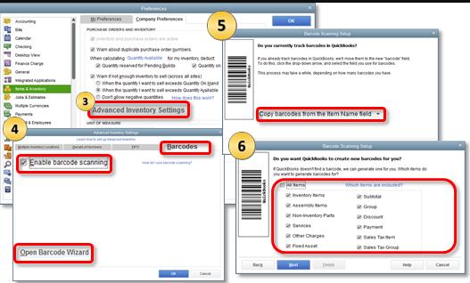 Set up Barcode Scanner in QuickBooks
