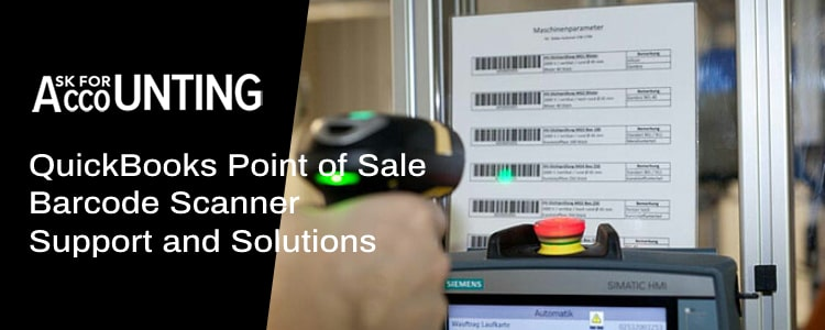QuickBooks Point of Sale Barcode Scanner