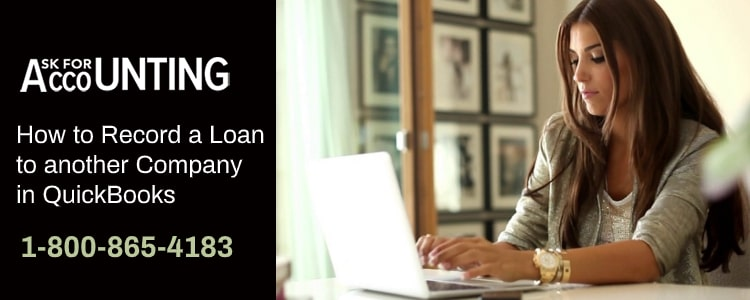 Record a Loan to another Company in QuickBooks