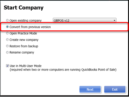 Convert Old QuickBooks File to New Version